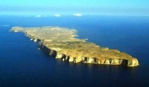 Vista aerea di Lampedusa